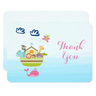 Gracias animales de la fiesta de bienvenida al invitación 8,9 x 12,7 cm