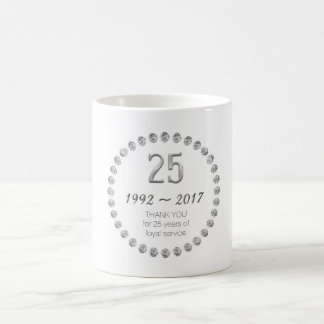 Gracias asaltar el 25to trabajo del empleado del taza de café