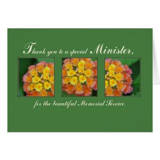 Gracias ayudar, funeral conmemorativo tarjetas