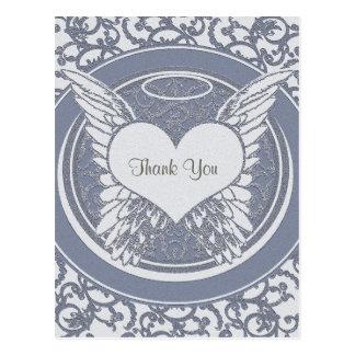 Gracias azul de la condolencia el | del | postal