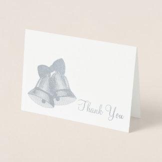 Gracias Belces de plata que casan día de fiesta Tarjeta Con Relieve Metalizado
