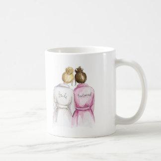 Gracias Bm rubio del bollo del Br de la novia del Taza De Café