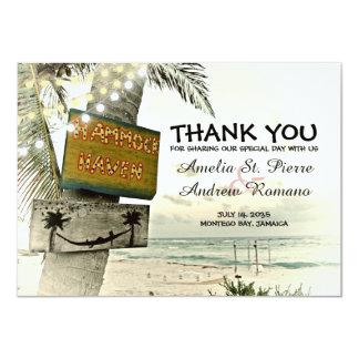 Gracias boda de playa del destino invitación 11,4 x 15,8 cm