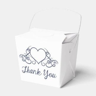 Gracias boda/fiesta del corazón del amor de los caja de regalos