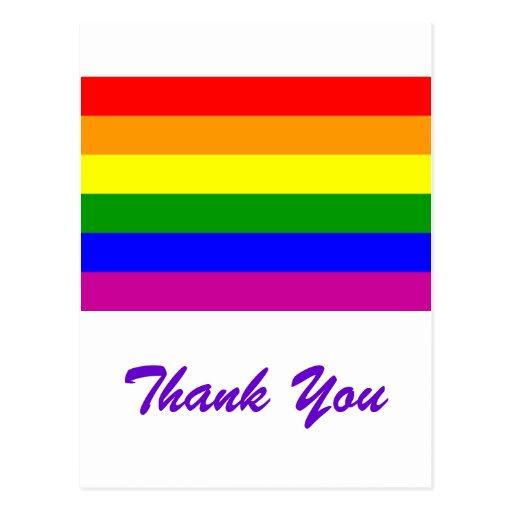 Gracias boda gay del arco iris tarjetas postales