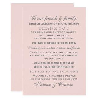 Gracias boda gris de la tarjeta el | del mensaje
