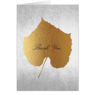 Gracias bodas de plata de oro negra tarjeta de felicitación