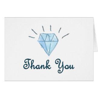 Gracias cardar - boda - diseño del diamante tarjeta de felicitación