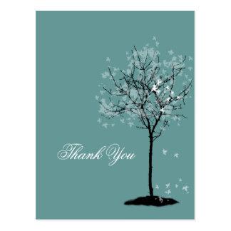 ¡Gracias cardar el árbol de arce del ~, color de Postal