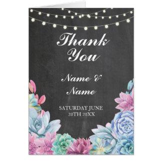 Gracias cardar el boda de la tiza de los tarjeta de felicitación