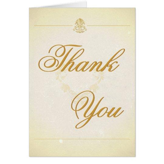 Gracias cardar estilo del papel de pergamino del tarjeta de felicitación