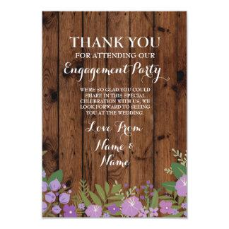 Gracias cardar la madera del boda del compromiso invitación 8,9 x 12,7 cm