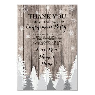 Gracias cardar la madera del boda del invierno del invitación 8,9 x 12,7 cm