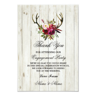 Gracias cardar las astas del boda del compromiso invitación 8,9 x 12,7 cm