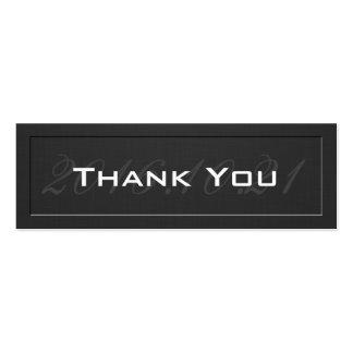 Gracias cardar - negro grabado en relieve con tarjetas de visita mini