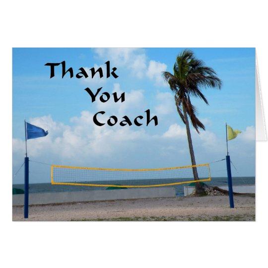 Gracias cardar por coche del voleibol de playa tarjeta de felicitación