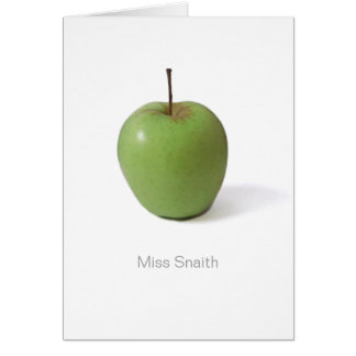 Gracias cardar por el profesor - Apple verde Tarjeta De Felicitación