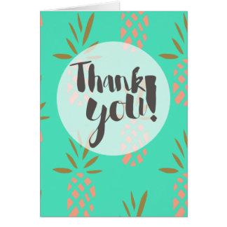 Gracias cardar tarjeta de felicitación