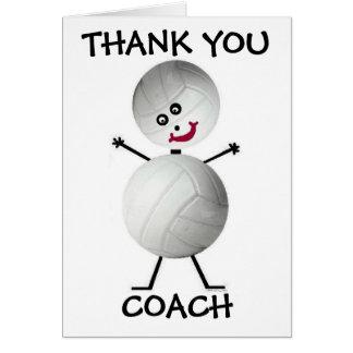 Gracias coche del voleibol tarjeta