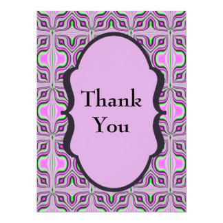 Gracias color de malva rosada de la MOD Invitación 16,5 X 22,2 Cm