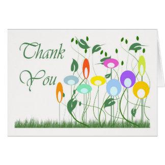 Gracias con formas del vector tarjeta de felicitación