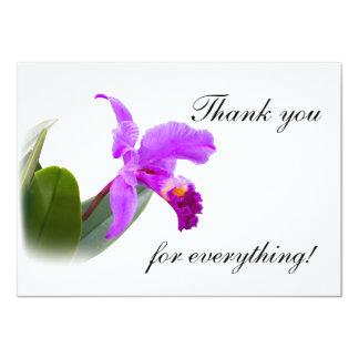 Gracias con la orquídea invitación 11,4 x 15,8 cm
