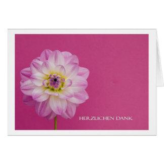 Gracias cordiales tarjeta de felicitación