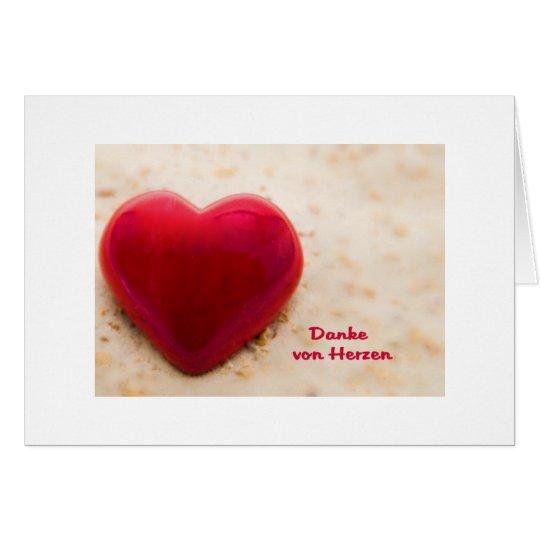 Gracias de corazones tarjeta de felicitación