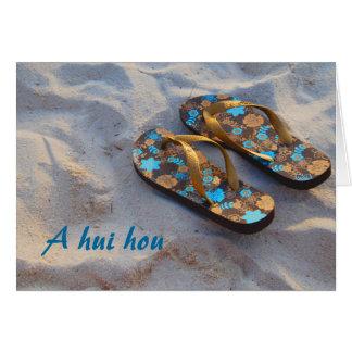 Gracias de la familia de zapatos de la playa tarjetón