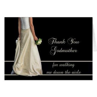 Gracias de la madrina por caminar yo abajo del tarjeta de felicitación