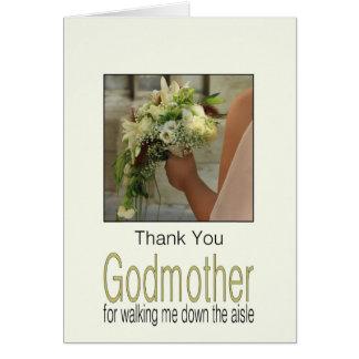 Gracias de la madrina por caminar yo abajo del tarjeta pequeña