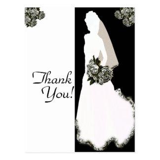 Gracias de las postales de la novia