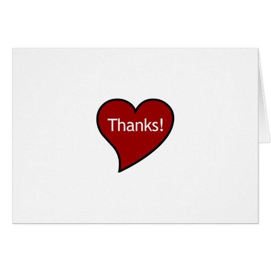 ¡Gracias de mi corazón! Tarjeta Pequeña