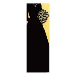 Gracias decoración del boda Oro-Negra Tarjetas De Visita Mini