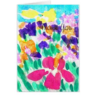 Gracias diseño de la acuarela tarjeta de felicitación