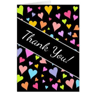 """¡""""Gracias! """"; Diversión, amando, modelo colorido Tarjeta"""