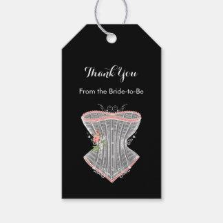 Gracias ducha nupcial personal del corsé del etiquetas para regalos