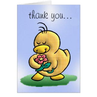 Gracias Duck la tarjeta