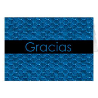 Gracias en español Gracias Tarjeta De Felicitación