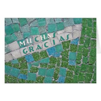 Gracias en español tarjeta de felicitación