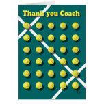 Gracias entrenar, tenis tarjetón