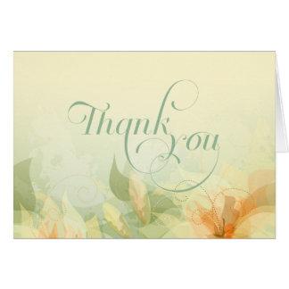 Gracias - escritura de la suposición del boda del tarjeta pequeña