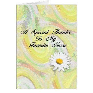 Gracias especiales a mi enfermera preferida tarjeta de felicitación