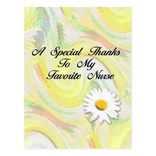 Gracias especiales a mi enfermera preferida tarjetas postales