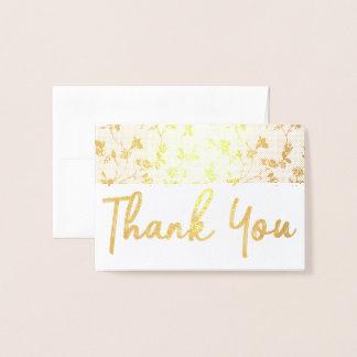Gracias estampado de flores de la tarjeta del