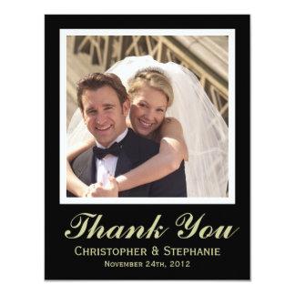 Gracias estilo moderno del boda invitación 10,8 x 13,9 cm