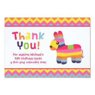 Gracias fiesta de cumpleaños mexicana de la fiesta invitación 8,9 x 12,7 cm