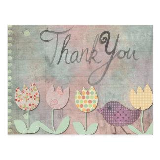 Gracias floral postal