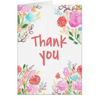 Gracias florece tarjeta de felicitación