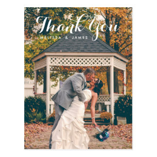Gracias foto caprichosa del boda postal